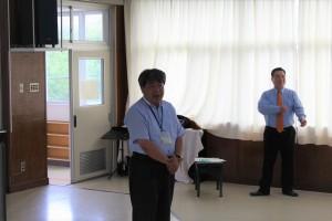 講演する陸前高田市中村防災対策監